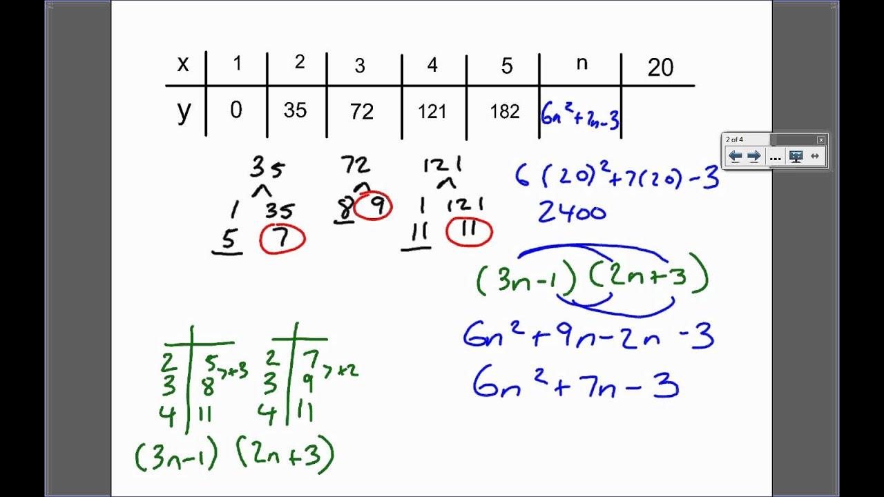 quadratic number patterns grade 11 maths911 live show grade 11 algebra number patterns. Black Bedroom Furniture Sets. Home Design Ideas