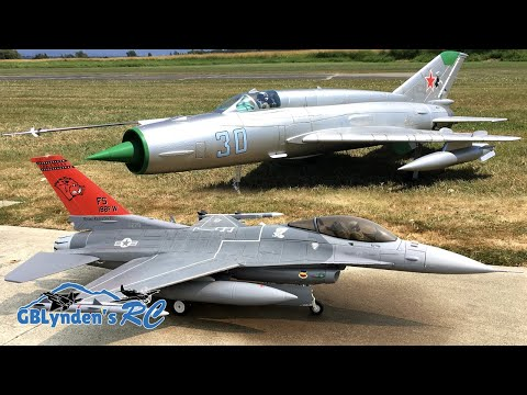 Freewing F-16 & Freewing MiG-21 EDF Jets Formation Flying