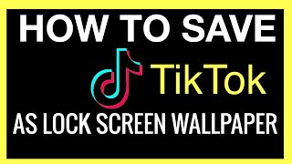 How to Save TikTok Video as LIVE WALLPAPER on your iPhone!!! (2021 YouTube Tutorial)   Andrea Jean screenshot 2
