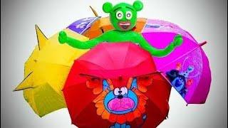 子供のための傘の色の指の家族の歌の保育園の韻で色を学ぶ