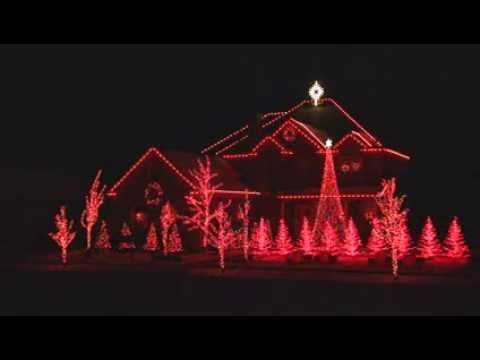 beautiful house computer controlled christmas lights