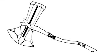 Thor Stormbreaker Drawing How To Draw Avengers Stormabreaker Logo Unknown Artist Youtube