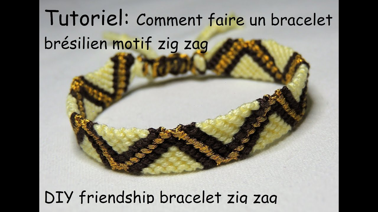comment faire un bracelet br silien motif zig zag diy friendship bracelet zig zag youtube