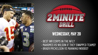 MAHOMES VS WILSON IF THEY SWAPPED TEAMS? 2 Minute Drill: Wednesday, May 20 | PFF