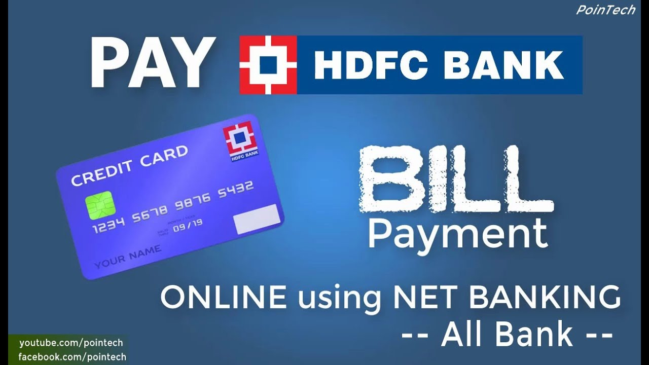 How To PAY HDFC Credit Card Bill Online | Pay Credit Card Bill Without Registration | PoinTECH ...