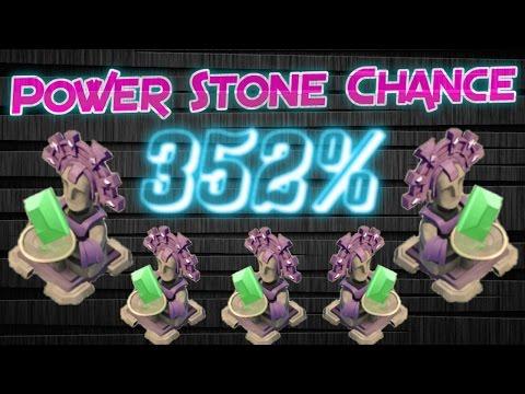Boom Beach - 5 Power Stone Chance Statues 352%