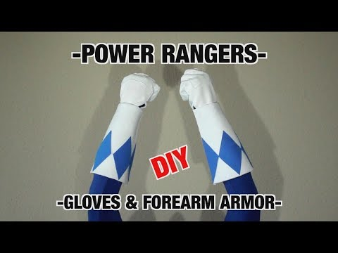 Power Rangers Gauntlet and Gloves TUTORIAL / DIY