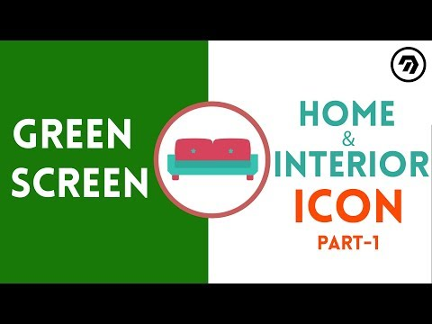Green Screen Home & Interior Icon Part 1 | mrstheboss