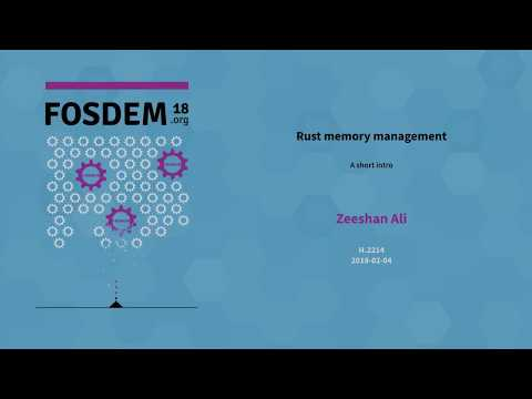 Zeeshan Ali - Rust Memory Management