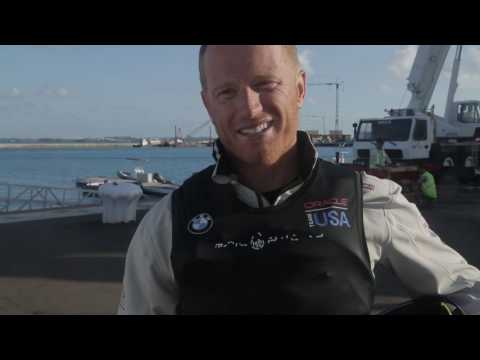 Epic Dismount From ORACLE TEAM USA Skipper Jimmy Spithill