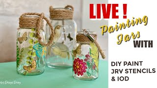LIVE-DIY Decorated Mason Jars -Creative Relief Series