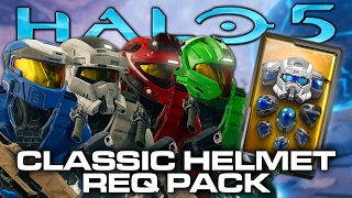 Halo 5 Classic Helmet REQ Pack Opening (MARK V Delta, CQB, EOD, Recon, & More)