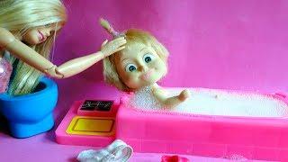 bajka Masza i Niedźwiedź po polsku Barbie kąpania w kąpieli