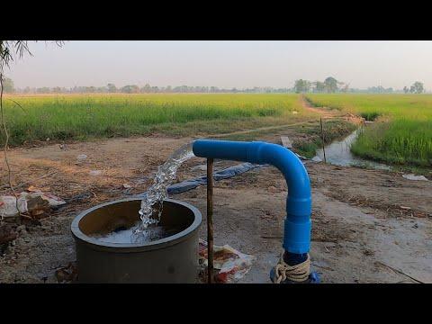 สูบน้ำบาดาลด้วยไฟฟ้า ทดสอบบ่อใหม่  Pumping groundwater