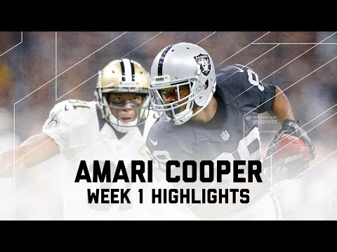 Every Amari Cooper Catch | Raiders vs. Saints | NFL Week 1 Player Highlights