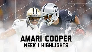 Every Amari Cooper Catch | Raiders vs. Saints | NFL Week 1 Player Highlights