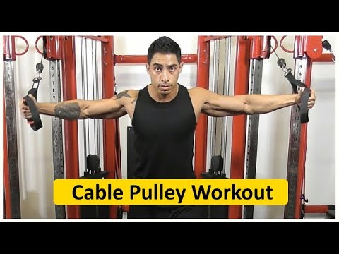 Functional Trainer Cable Pulley Workout - Upper Body 25mins