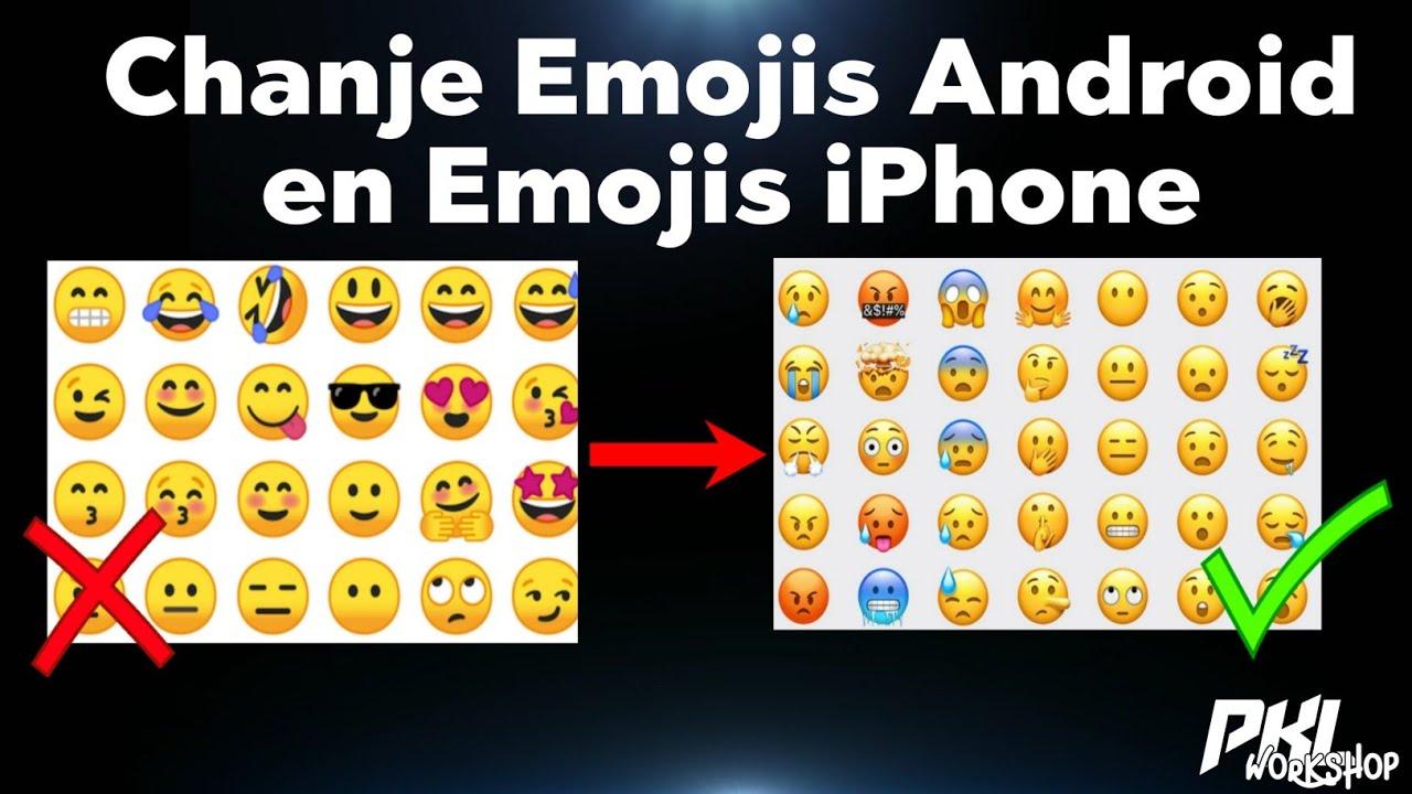 Chanje Emojis Android nou en Emojis iPhone