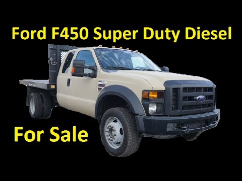 Ford Super Duty Diesel F450 Dually Commercial Work Pickup Truck