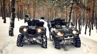 ATV Saltov #2 | Yamaha Grizzly 660 & Stels 500H EFI | Snow riding & drift ATV | Квадроциклы зимой(, 2015-01-24T19:09:43.000Z)