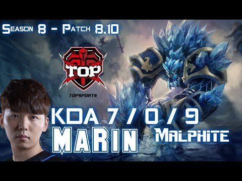 TOP MaRin MALPHITE vs IRELIA Top - Patch 8.10 KR Ranked