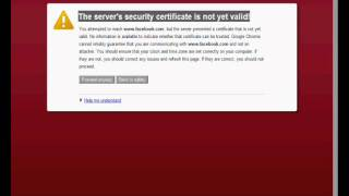 How to fix SSL certificate not valid