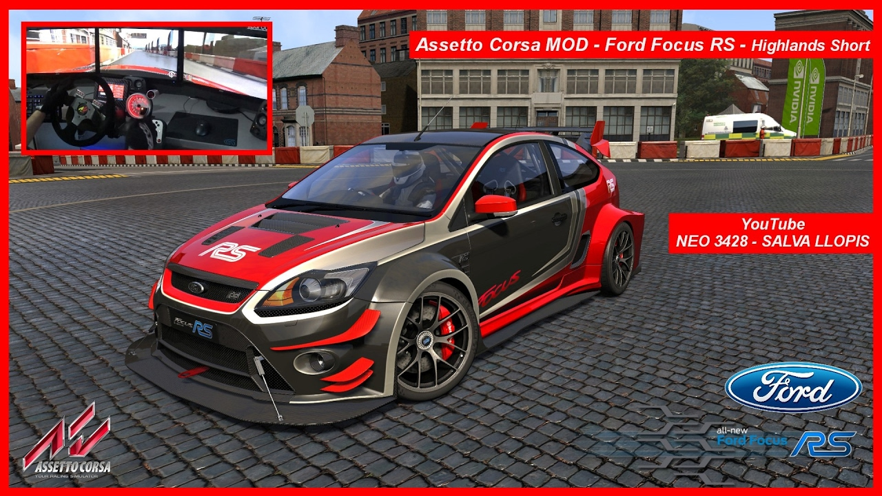 assetto corsa mod ford focus rs free highlands track. Black Bedroom Furniture Sets. Home Design Ideas