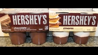 Hershey's: S'mores & Chocolate Pudding Review
