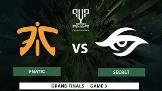 Highlight: Fnatic vs Team Secret [Grand Finals] BO5 -PVP Championships 2018 - [DAY 3]- Game 3
