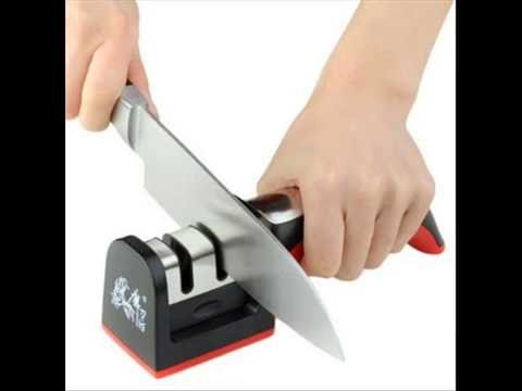 Household Knife Sharpener 2 Stages Hard Carbide Ceramic Sharpening Stone Handle