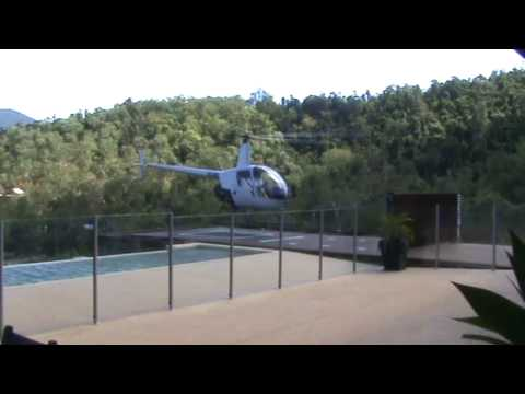 helicopter home landing at mike's place