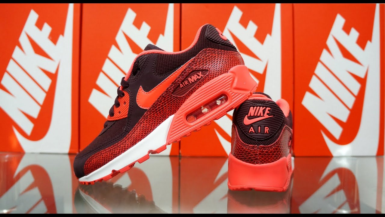 detailed pictures 09c77 575bb ... Nike Air Max 90 Deep Burgundy Team Red Action Red ...