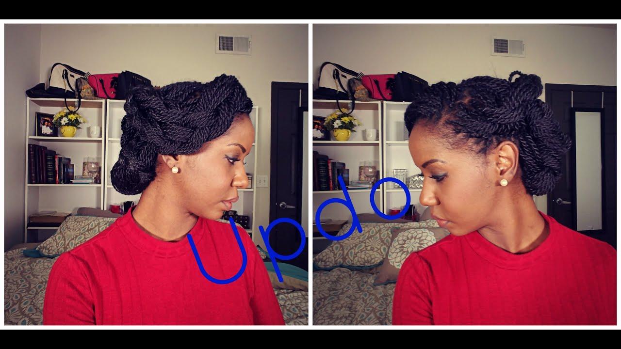 ღ Senegalese Twist - Updo Hairstyle