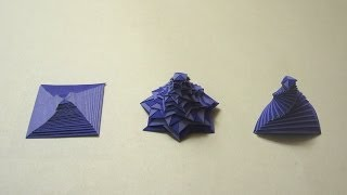 Origami Instructions: Single Strip Square Curlicue (Assia Brill)