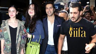 Salman Khan,Preity Zinta,Alia Bhatt,Varun Dhawan Leaving For IIFA Awards 2017 New York