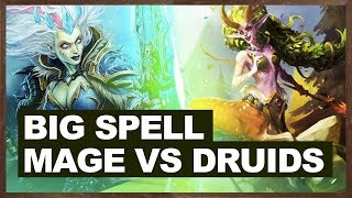 Big Spell Mage VS Druids | The Witchwood Hearthstone