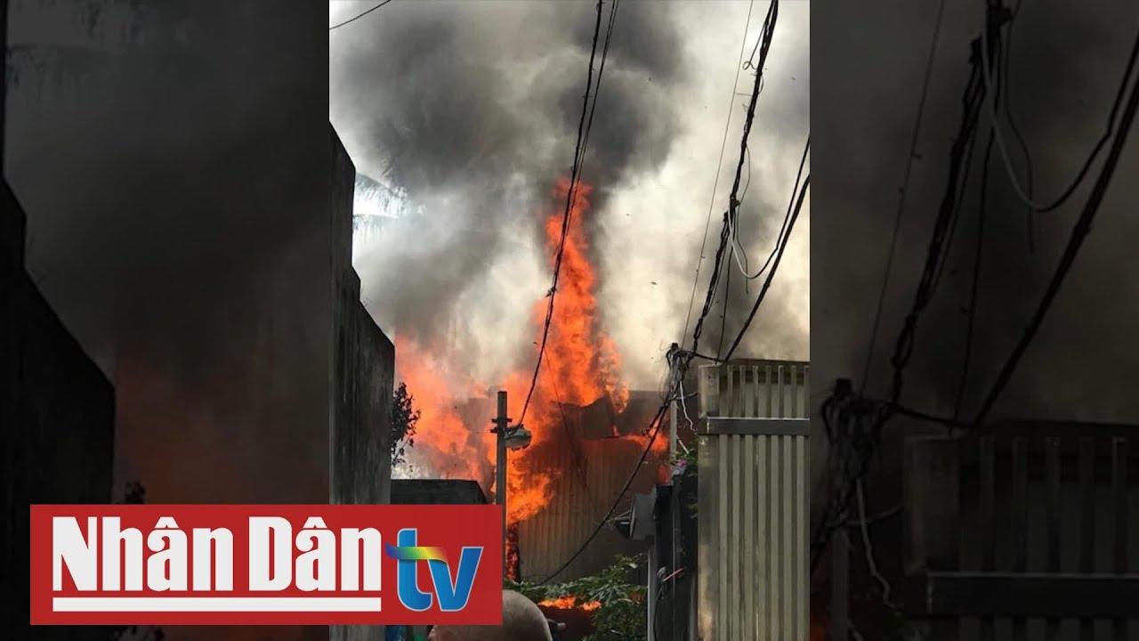 Hà Nội: Cháy xưởng mộc tại phường Thạch Bàn, quận Long Biên