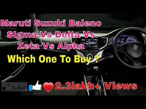 Maruti Suzuki Baleno Sigma Vs Delta Vs Zeta Vs Alpha Exterior Interior Entertainment Comfort Safety
