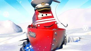 Troy der Zug -  Der Eisbrecherzug rettet Tina vorm Ertrinken - Autopolis 🚄 Cartoons für Kinder 🚓 🚒