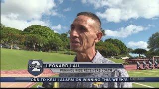 Johnny on the Go: Punahou receivers coach Leonard Lau