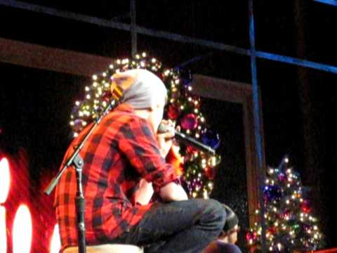 Justin Bieber performing Silent Night