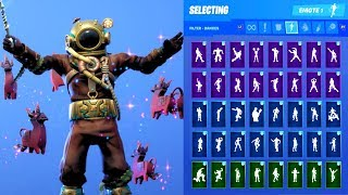 DEEP SEA DESTROYER SKIN SHOWCASE WITH ALL FORTNITE DANCES & EMOTES