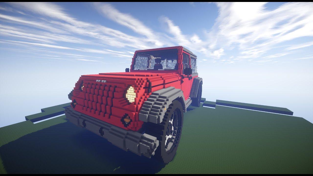 Minecraft, Jeep wrangler - YouTube