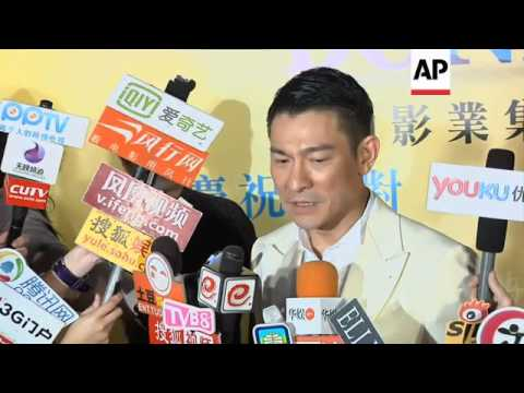 Andy Lau and Deanie Yip celebrate HK Film Award victory at after party