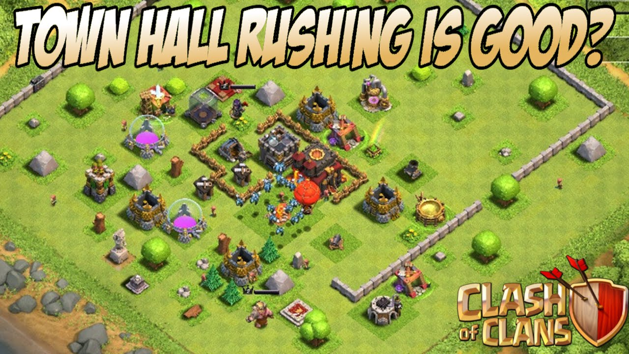 Why You Should Rush Your Town Hall In Clash of Clans - YouTube