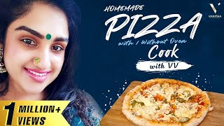 Homemade Pizza With & Without Oven | Cook with VV | Bring Home the Best Pizza | Vanitha Vijaykumar