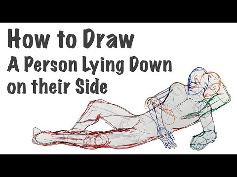 How To Draw A Person Lying Down On Their Side