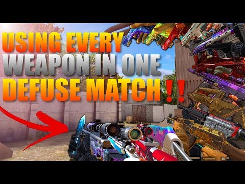 Standoff 2 Using Every Gun In One Defuse Match‼️