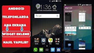 Android Telefonlarda Ana Ekrana Widget Ekleme NASIL YAPILIR? screenshot 2