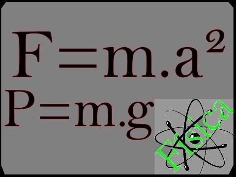 2° Lei de Newton - Dinâmica - F=m.a  P=m.g